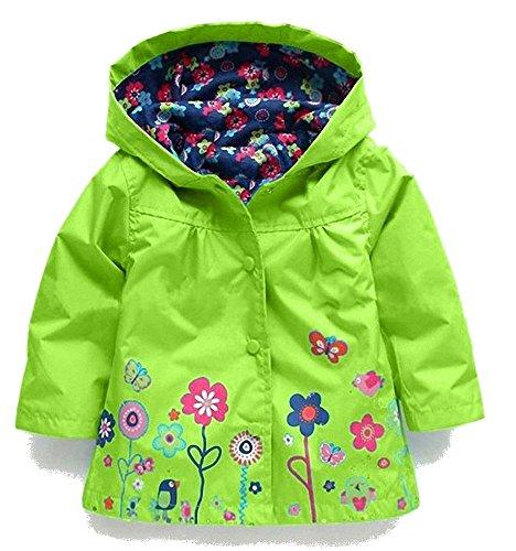 Kostüm Gelben Regenmantel - Kinder Mädchen Baby Wasserdichte Kapuzenmantel Kostüm Outwear Regenmäntel Herbst Wasserdichte Windjacke Jacken