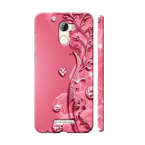Clapcart Gionee A1 Lite Designer Printed Back Cover for Gionee A1 Lite -Pink Color (Heart Design Print for Girls)