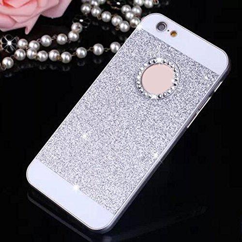 Cuitan PC Glitter Housse Case pour Apple iPhone 6 plus / 6s plus (5,5 Inch), avec Diamant Strass Sparkle Bling Shiny Retour Housse Back Cover Protecteur Etui Coque Cover Shell pour iPhone 6 plus / 6s  Argent