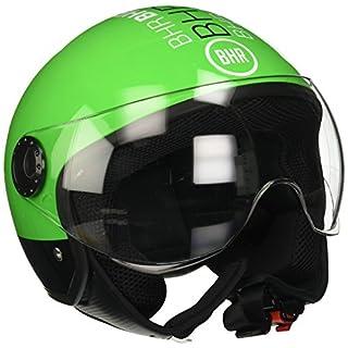BHR Motorrad Helm Demi-Jet Line One 801, grün neon XS (54cm)