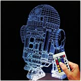 Star Wars Lampe Décoratives Droïde R2D2 (Illusion D'Hologramme 3D)