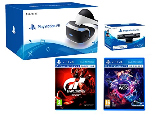 "Playstation VR ""GT Sport Pack"" Gran Turismo Sport+ VR Worlds + PS4 Camera V2"
