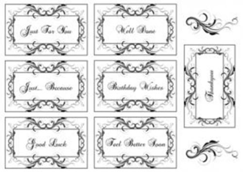 Sentimentally Yours A5 Clear Stamps by Phill Martin - Fanciful Flourish Frame Collection - SYFFFC