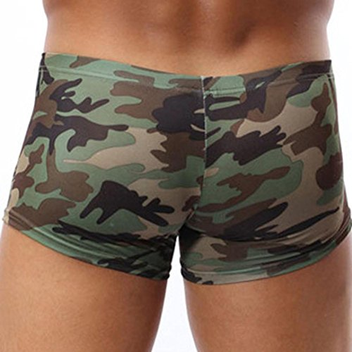 Gaddrt Military Men's Camouflage Boxer Briefs Trunks Underwear Underpant