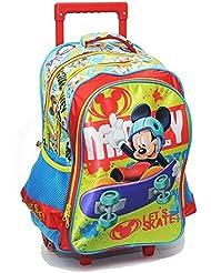 Mickey y sus amigos–Mochila con ruedas Mickey Mouse 43cm Trolley