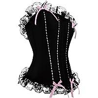 Pure Black Sexy Corsets Set Womens Lingerie (Size Available: S, M, L, XL) (L)