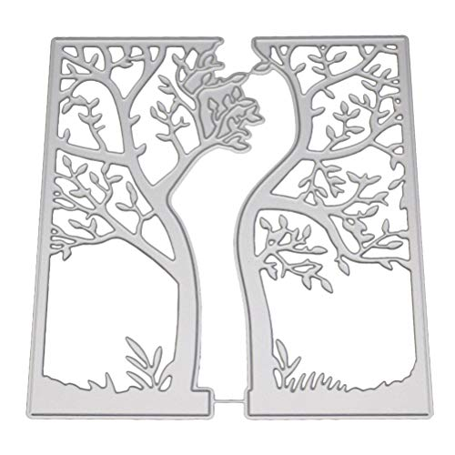 SUPVOX Baum Stanzformen Weihnachten Stanzschablone Schablonen Metall Prägeschablonen Album Scrapbooking DIY Handwerk Weihnachtsdeko