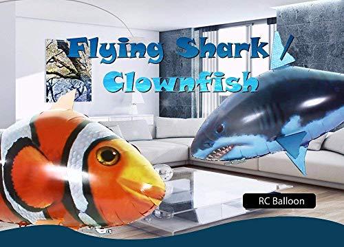 GEGEQ® Luftschwimmer mit Fernbedienung, Fisch Spielzeug Kits, aufblasbares Geschenk Weihnachten für 6-14 Jahre, 2018 RC fliegendes Shake Spielzeug Ugly Fish