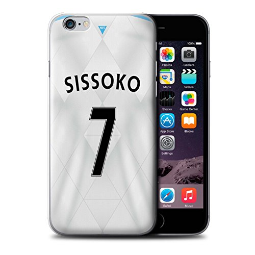 Offiziell Newcastle United FC Hülle / Case für Apple iPhone 6+/Plus 5.5 / Pack 29pcs Muster / NUFC Trikot Away 15/16 Kollektion Sissoko