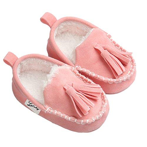 Etrack-Online , Baby Mädchen Lauflernschuhe, braun - Winter Brown - Größe: 0-6 Monate Winter Pink