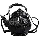 SHINING KIDS 3D Teekanne Tasche Umhängetasche Persönlichkeit Mode Einzelne Schulter Flasche Tasche Pu Damen Handtasche