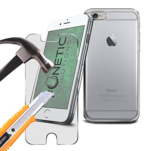 FONETIC Lösungen ® Google Pixel XL stoßfest Flip Carbon Gel Fällen auf mit Qualität gehärtetem Glas Displayschutzfolie transparent Clear Gel Case + Glass