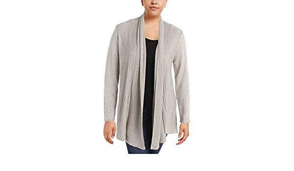 Vila Milano Womens Pleated Long Sleeves Cardigan Sweater