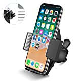 Support Telephone Voiture Ventilation Portable Quntis Auto Universel à Angle Réglable pour iPhoneX/8/8Plus/6s/6/SE/5/5s SamsungGalaxyGalaxy S8/S7/S7edge/a5/Note,Nexus,LG,Sony,Android Smartphones