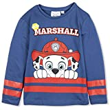 Paw Patrol Boys Long Sleeve 100% Cotton Top T-Shirt with Marshall or Rubble