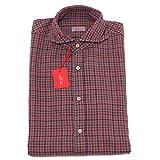2337P camicia cotone pesante uomo quadretti bordeaux ALTEA camicie shirt men [42]
