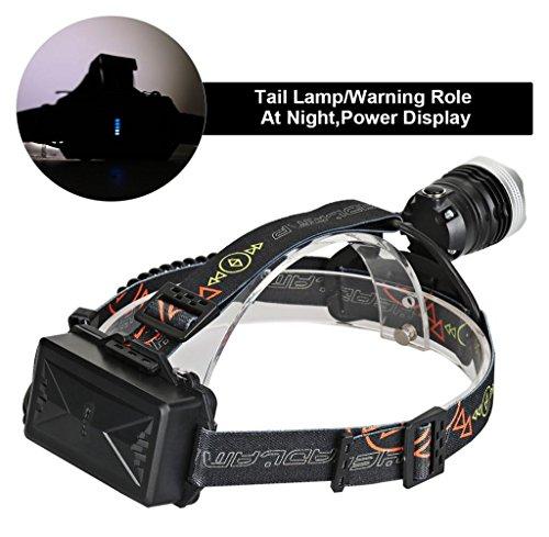 Tongshi 8000lm USB T6 sensor de infrarrojos LED faro pesca Faro 18650 cargador
