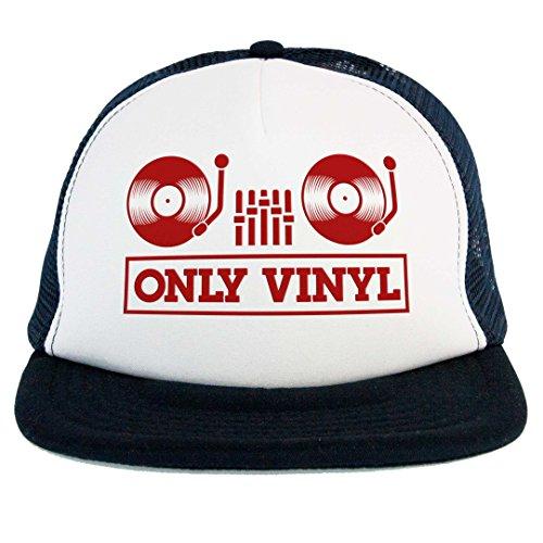 Hut Only Vinyl, Trucker Dj, Musik House Techno, Mittelkonsole Plattenspieler Mixer Vinyl, Nr Shirt Trucker Hut