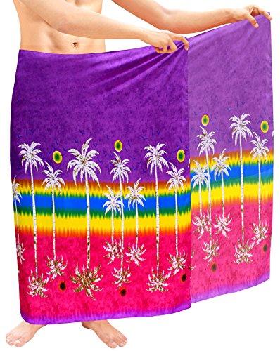 La-Leela-para-hombre-pareo-pareo-envoltura-encubrir-ropa-de-playa-traje-de-bao-traje-de-bao-violeta-hawaiano