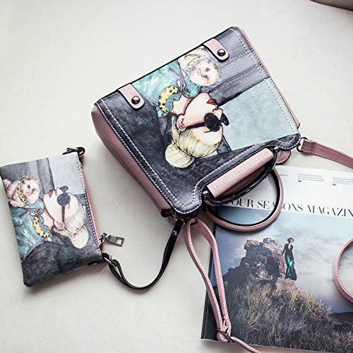 Pacchetto AoBao femmina di nuovo bisogno di cross-Package coreano moda borse donna leisure stamp poi borsa a tracolla custodia (26cm di larghezza 12 cm lungo e alto 21 cm) Toner di piccole dimensioni per inviare il pacchetto di piccole dimensioni