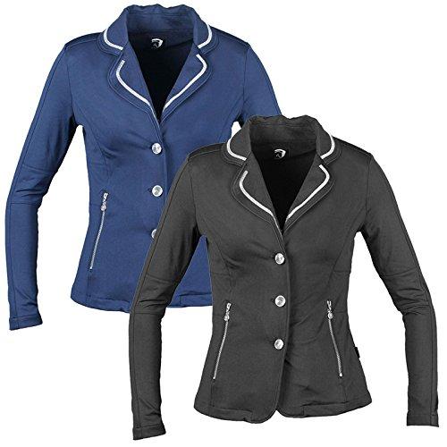 Horka Zip Up d-dynamic Equestrian caballo equitación Show chaqueta nueva Equestrian Ladies, negro