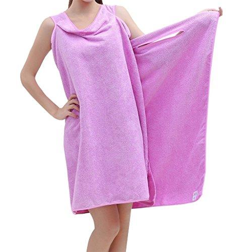 Handtücher, Wearable Bath Towel, saugfähig schnell trocken Super Weich, Bademantel und Badetuch, alles in einem (Lila) (Wickeln Handtuch Damen)