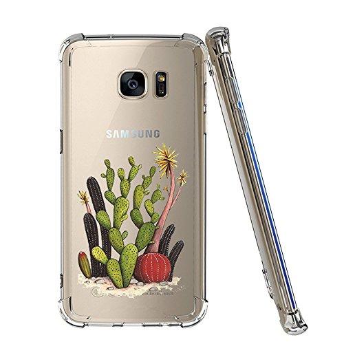 Samsung Galaxy S6 Hülle, Air-Cushion Shock Absorption Kratzfest Transparent Bumper Schutzhülle TPU Silikon Flexibles Case Drop Schutz Cover für Samsung Galaxy S6 08