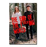 NOVELOVE Immagine di Arte della Parete The End of The Fing World Serie TV Alex Lawther Movie Poster Stampa su Tela Senza Cornice 50 * 70cm