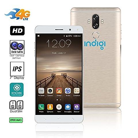 Indigi® entsperrt 4G LTE 6Android 7.0nougat Smartphone 8Core @ 1,3GHz (, Cam + Fingerabdruck Scan + Dual Sim Slots + Bluetooth 4.0) (Rose (Unlocked Gsm-bluetooth-kamera-telefon)