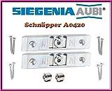 2 X SI Siegenia Balkontür Terrassentür Schnäpper A0420 / Schnaepper 0420 Türschnäpper inkl. Hülse + Schrauben!!! 2 Stücke!!!