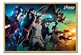 Legends of Tomorrow Team Poster Hêtre encadré – 96.5 x 66 cms (environ 96,5 x 66 cm)