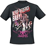 Aerosmith Aero-Vederci Baby Tour 2017 T-Shirt Black