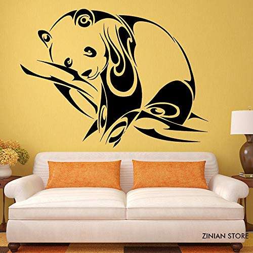 woyaofal Adesivi murali Panda Animali Cameretta per Bambini Nido Tribale Adesivo murale Rimovibile Arte murale per Bambini Cameretta Decorazioni per la casa 56x75 cm