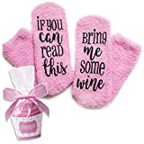 Zucker & Garn If You Can Read This Bring Me Some Wine Cupcake Socken Pink EU 36 - 42