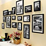#6: Painting Mantra individual Photo Frame (3pc: 8X10 inches, 4pc: 6X8 inches, 4pc: 5X7 inches, 3pc: 4X6 inches, 2pc: 6X10 inches, Set of 16, Black)