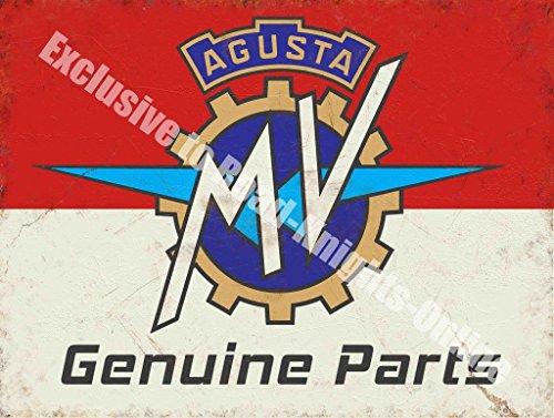 Agusta MV Originale Parti Moto Garage Vintage Metallo/Targa Da Parete In Acciaio - 15 x (Outdoor Metallo Wall Art)
