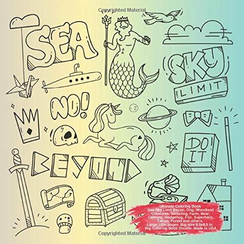 ok Sea Sky Limit Beyon, Dog, Woodland Creatures, Swearing, Farm, Bear, Calming, Hedgehog, Fox, Superhero, Tattoo, Forest and ... Limit Beyon and others Doodle Book, Band 1) ()