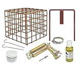 Wühlmausfalle Kieferle W2 + Halter + Schutzkorb + Pflegeöl + Lockmittel + Ausdrücker
