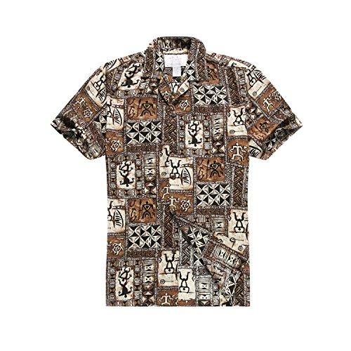 Hawaii-Hangover-hombres-una-camisa-hawaiana-camisa-marrn-grande