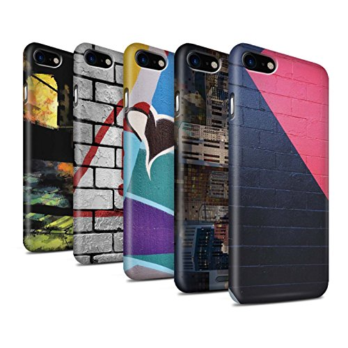 STUFF4 Matte Snap-On Hülle / Case für Apple iPhone 8 / Nachricht Muster / Städtisch Straße Kunst Kollektion Pack 12pcs