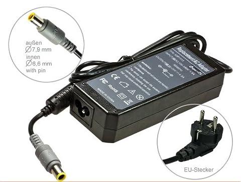 Adaptateur chargeur secteur AC Adapter pour ordinateur portable IBM Lenovo Thinkpad X61s X61-Tablet Thinkpad-Edge T410i T410s T410si T510 T510i 14 15 E14 E30 E40 E50 B465 B470 B475 B575 C100 C200 E47 G465 G470 G475 e G565 G570 K47 N100 N200 . Avec câble d´alimentation standard européen. De