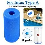 Filtre de piscine pour piscine Intex de type A réutilisable/lavable avec cartouche...