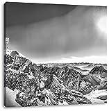 Monocrome, Zugspitze im Sonnenlicht, Format: 60x60 auf