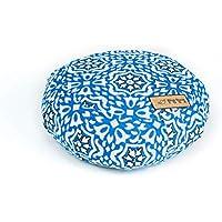 Blue Dove Yoga Meditationskissen Zafu gefüllt mit weicher Baumwolle