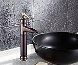 Furesnts casa moderna cocina y grifo del baño todo el cobre bronce marrón en la Cuenca Cuenca Cuenca Cuenca Banco Faucet Arte Antigüedades(estándar, adaptadores de manguera universal G 1/2 puertos) - Furesnts TAPS - amazon.es