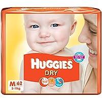 Huggies New Dry Diapers Medium (62 Count)