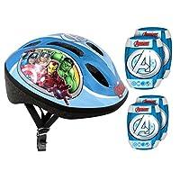 Stamp Set Includes Protective Helmet + Genouilleres Coudieres Bike-Avengers av299507