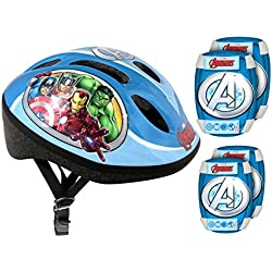 Stamp - Set De Protection comprenant Casque + Genouilleres Et Coudieres Vélo - Avengersstamp - Set De Protection comprenant Casque + Genouilleres Et Coudieres Vélo - Avengers, AV299507