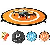 OTraki Drone Landing Pad Fast-fold and Waterproof Helipad 3 Landing Nails 8 Reflective Strips Drone Pad for DJI Phantom 4,Inspire, DJI Mavic Pro, DJI Spark