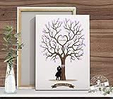 Weddingtree Fingerabdruckbaum Hochzeitsbaum auf Papier oder Leinwand Gästebuch Hochzeit Fingerabdrücke PERSONALISIERBAR verschiedene Größen